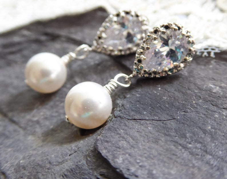 silver Clip on or pierced crystal earrings rose gold with option to choose colours too gold