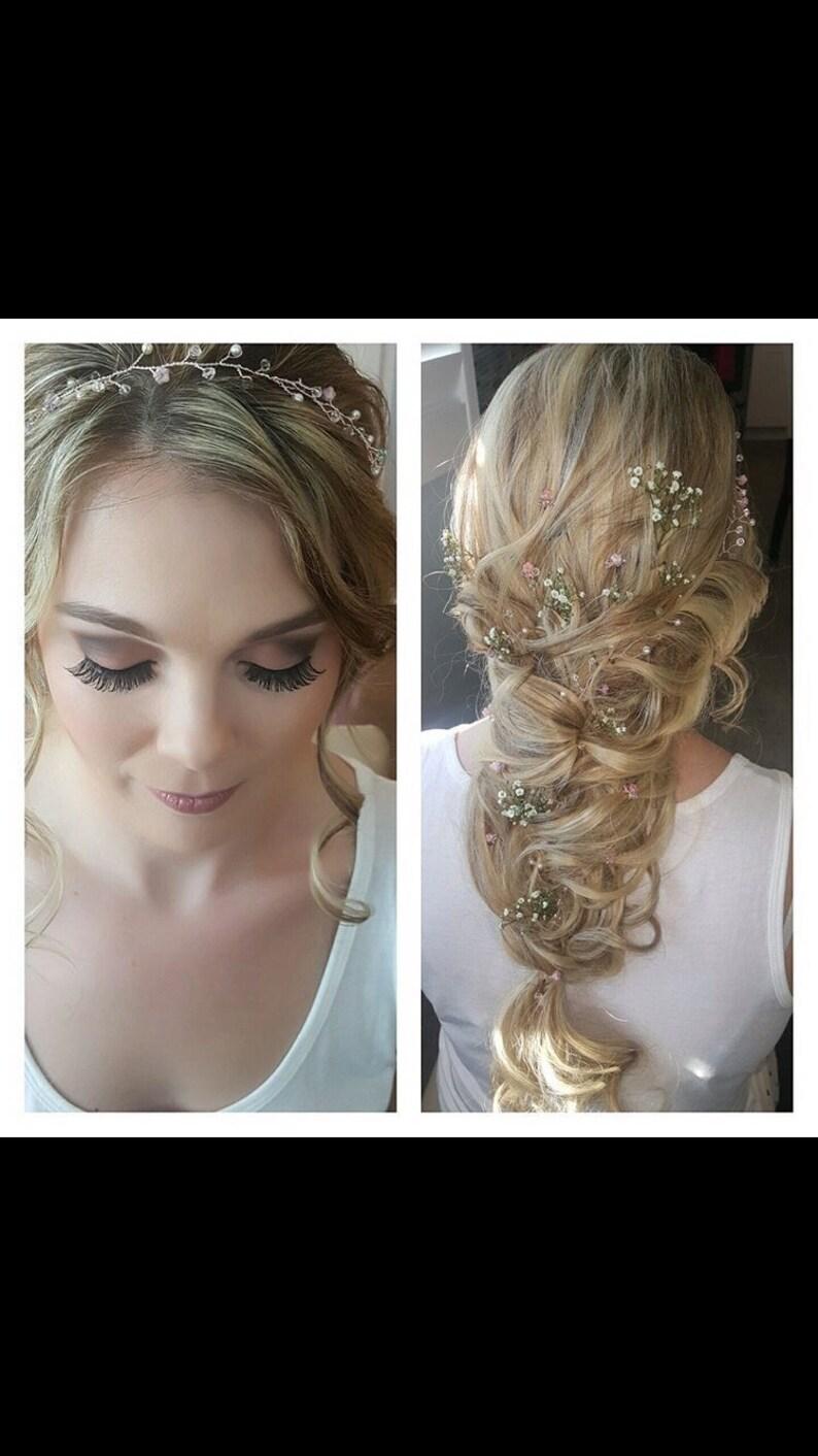 Swarovski flower hair pins sets of 3 bridal bridesmaids image 0