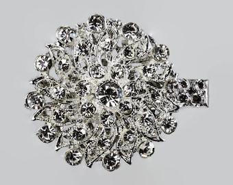 Diamante crystal hair clips, for veil, bridesmaids, bride, rhinestone, wedding, prom, vintage glamour, birdcage veils, bridal, brides