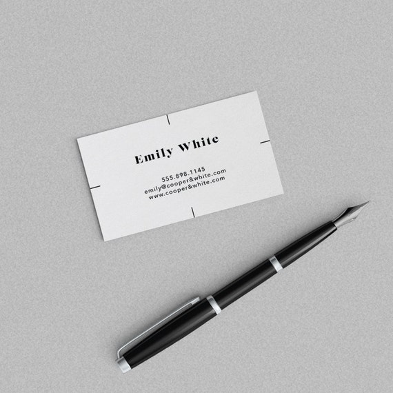 Minimal Business Card Template One Sided Card Design Ready Etsy