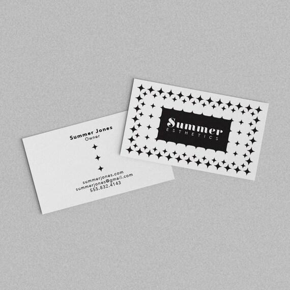Schwarz Und Weiß Visitenkarte Vorlage Zwei Doppelseitig Druckbare Karte Bereit Aus Visitenkarten Digital Design