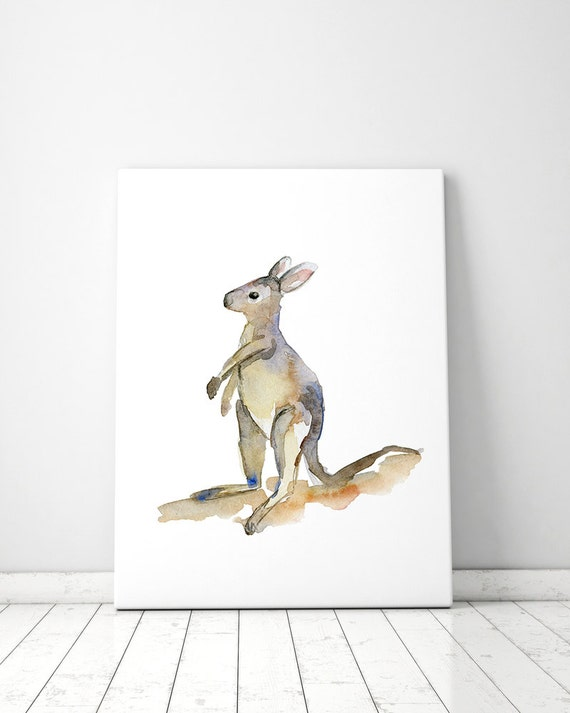 Decoración animal del bebé canguro arte wallaby de bebé | Etsy