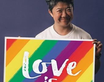 Love is Love Cork Board