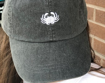 e607886278a Crab - Tiny Design Customizable Caps - Crab Baseball Hat