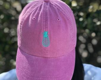 c481c3e5ccb5e Pineapple Hat - Tiny Design Baseball Hat - Custom Pineapple Baseball Caps