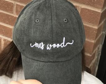 Custom MRS Handwriting Script Baseball Caps - Bridal Gifts c5469aafd01