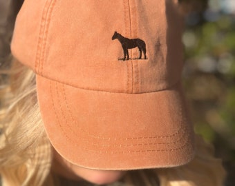 7ac9767e615 Horse Baseball Cap - Tiny Design Ball Hats
