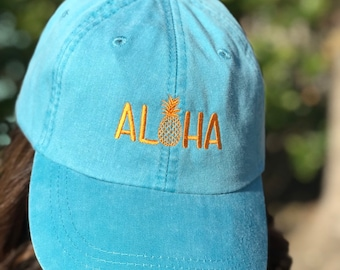 Aloha Pineapple Ball Cap 1c41fe2d0dab