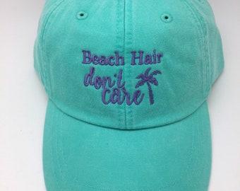 Beach Hair Don't Care Baseball Hat