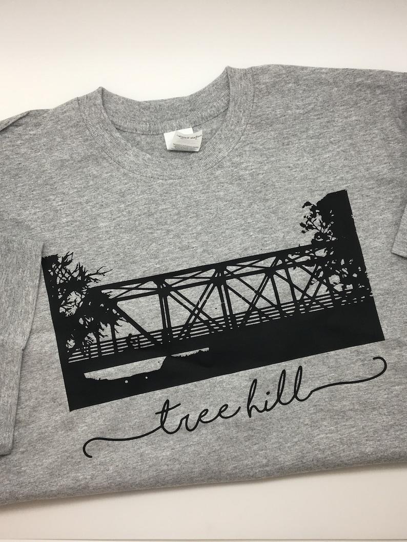 1de349b398bfd Tree Hill Bridge Short Sleeve Round Neck Tee Shirt - One Tree Hill Apparel