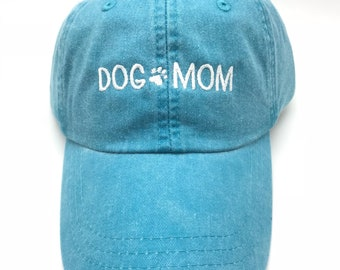 Dog Mom With Paw, Block Style Baseball Cap