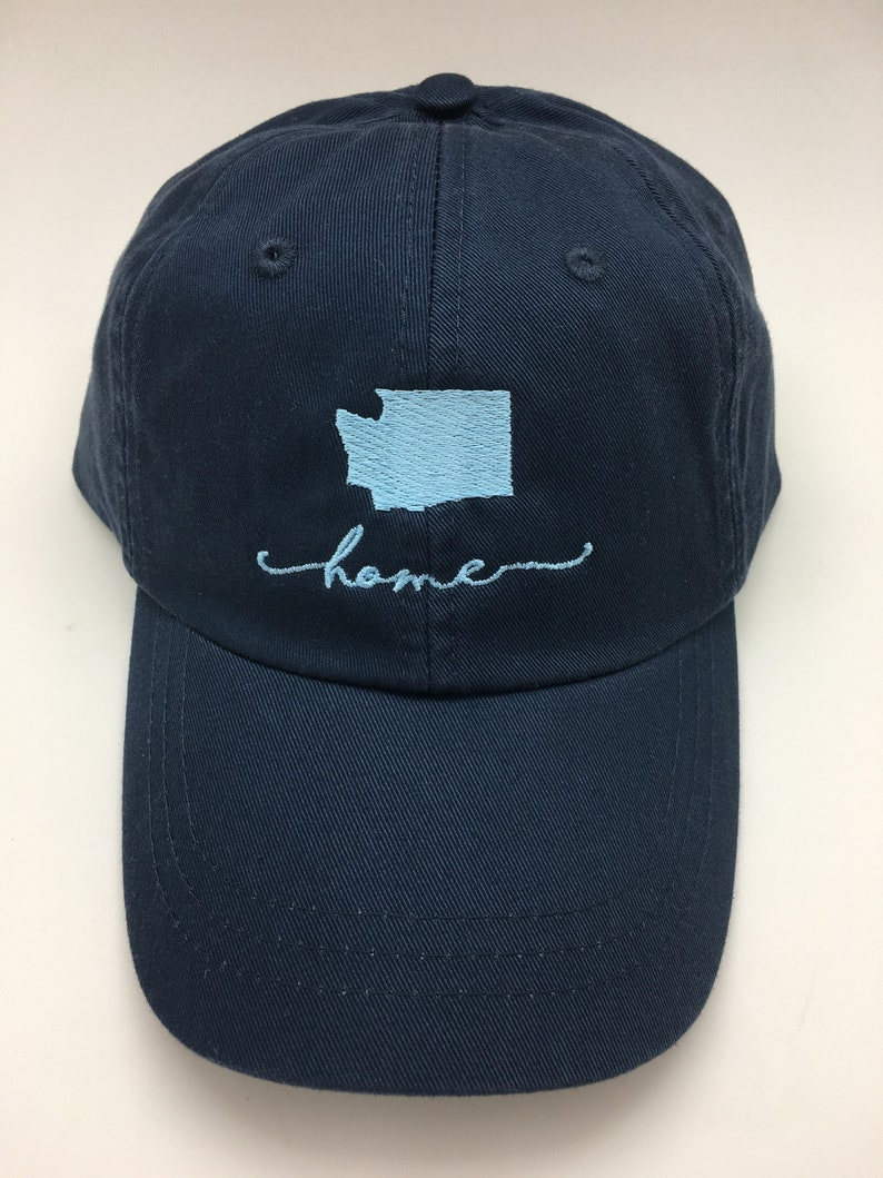 e098714c9ebb32 Handwriting Home Baseball Cap Home State Hats | Etsy