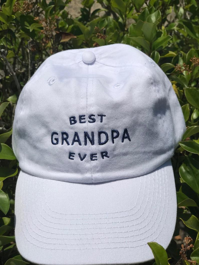 7dc23c5a Best Grandpa Ever Ball Cap Custom Grandpa Hat Father's | Etsy