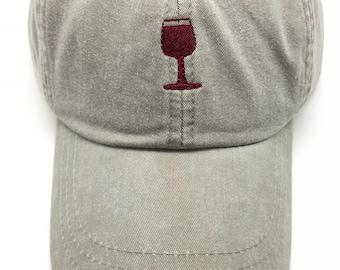 Tiny Wine Glass Baseball Cap