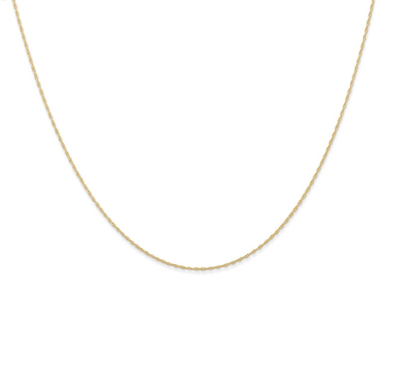 14k Or Rose Sur Argent Sterling Rond Diamants By The Yard Collier