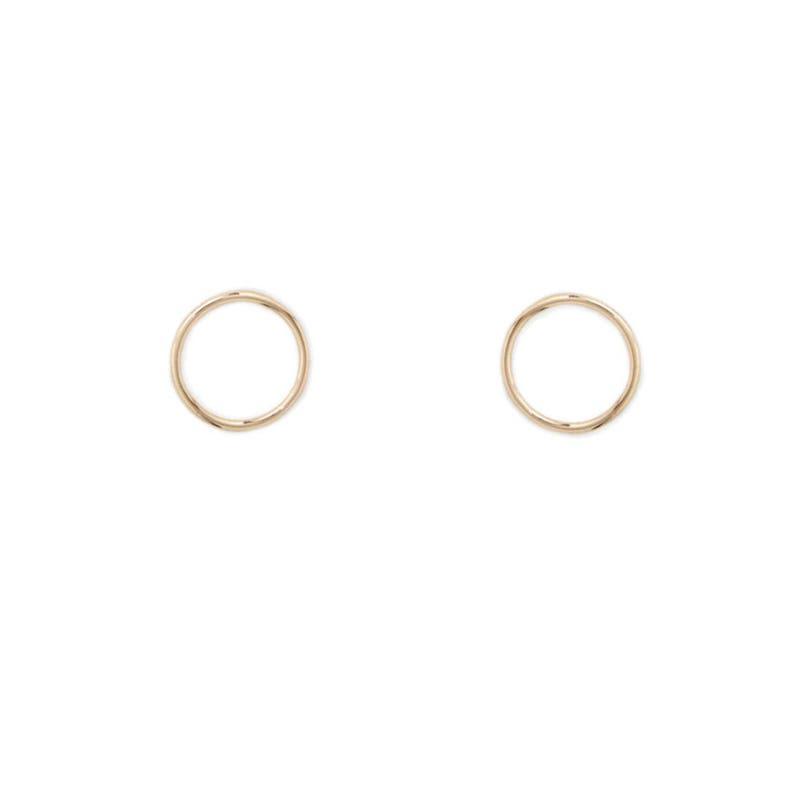 695027445df53 14K Solid Rose Yellow Gold Small Seamless Sleeper Hugger Huggy Hoop  Earrings Dainty Light Petite Hoops Delicate Basic New Classic Modern