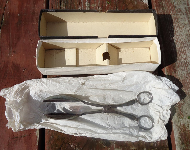 England in Original Box c /& Sons Ltd Don Universal Salad and Serving Tongs Made by Cooper Bros 1930s