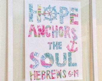 "Lilly Pulitzer Quote Print in Glass Float Frame 16""x20"".  FREE SHIPPING!!"