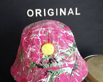 e550f173b60 Babies cotton bucket hat size 6 12 months wearable abstract art created in  Manchester inspired by The Roses
