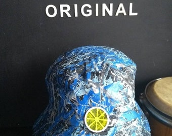 fc3525bb86d Made of Stone sleeve Inspired colourway Bucket Hat Created in Manchester  one size adults hand painted