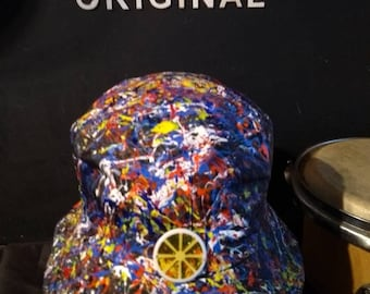 e7060594 Stone Roses Elephant Stone sleeve inspired hand painted bucket hat created  in Manchester adults one size