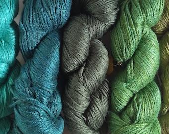 Milk Yarn - DK weight - shades of green!