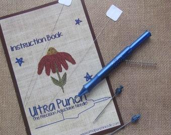 ef1bfc39af03f8 Ultra Punch Needle Set- PunchNeedle Tool with 3 needles - Punch Needle  Embroidery Tool - Small - Medium - Large Needle