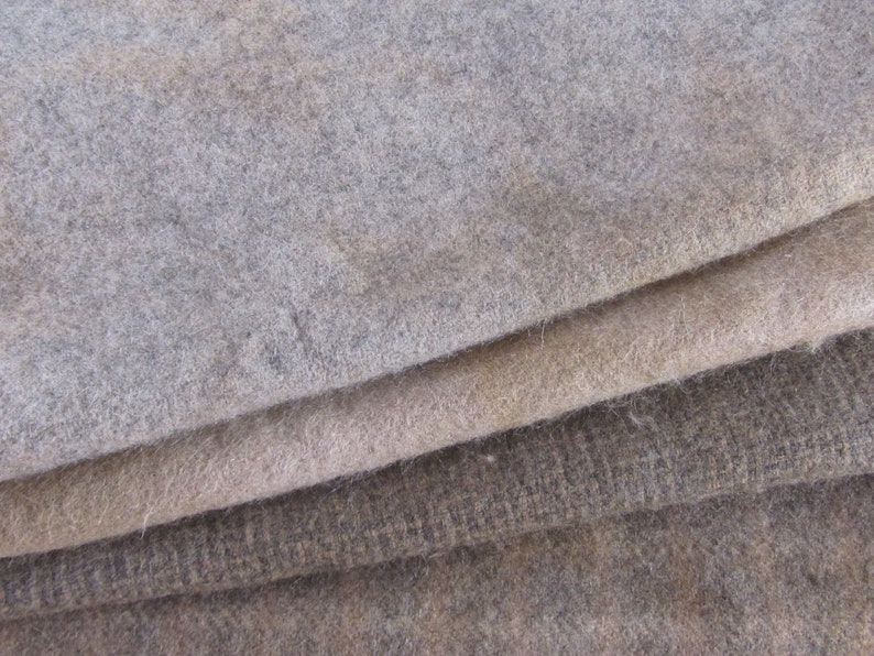 Hand Dyed Felted Wool Fat Quarters Camel Brown Hand Overdyed Rug Hooking Hooked Rug Wool Felted Wool Applique Wool -Penny Rug Wool