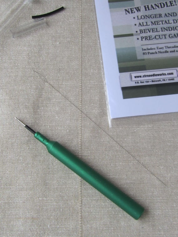 Punch Needle Ctr 3 Strand Punch Needle With Longer Handle Etsy