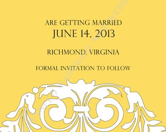 Save the Date Announcement or Save the Date Invitation- Personalized -Digital File or Printed Invitation