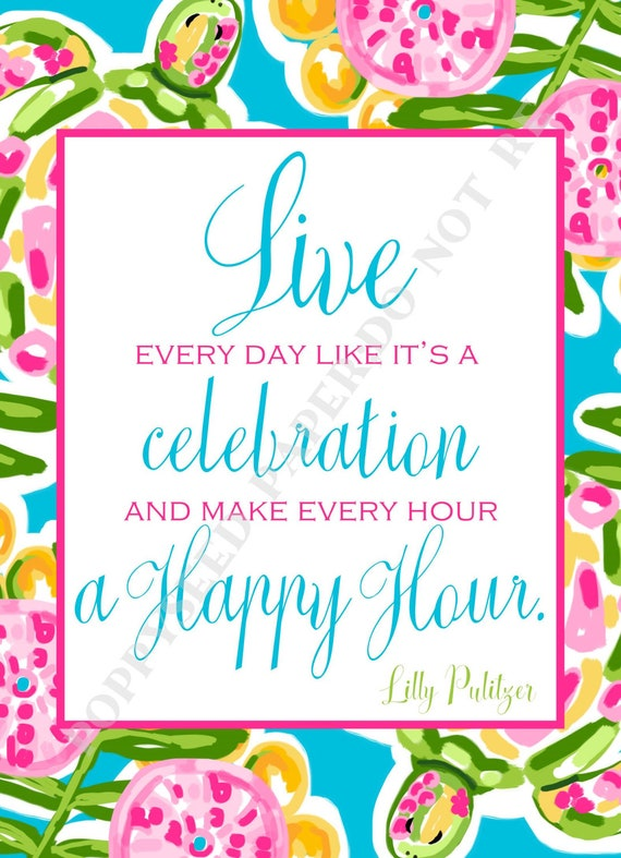 Lilly Pulitzer Quotes Preppy Quotes By Lilly Pulitzer Etsy Stunning Lilly Pulitzer Quotes