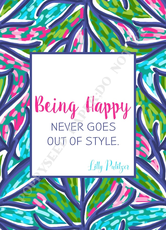 Lilly Pulitzer Quotes Preppy Quotes By Lilly Pulitzer Etsy Awesome Lilly Pulitzer Quotes