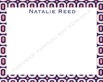 Personalized note card, personalized flat note cards, Thank You Note, stationery, with name and monogram
