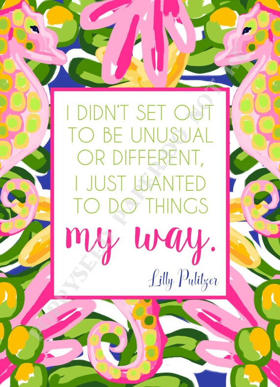 Lilly Pulitzer Quotes Preppy Quotes By Lilly Pulitzer Etsy Custom Lilly Pulitzer Quotes