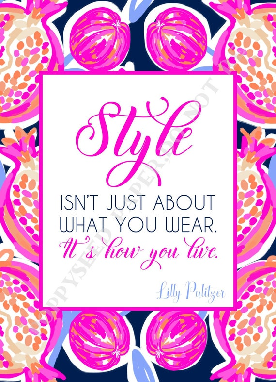 Lilly Pulitzer Quotes Preppy Quotes By Lilly Pulitzer Etsy Impressive Lilly Pulitzer Quotes