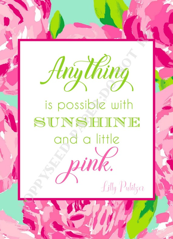 Lilly Pulitzer Quotes Preppy Quotes By Lilly Pulitzer First Etsy Simple Lilly Pulitzer Quotes