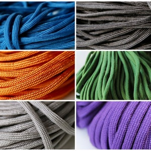 5mtrs Orange Paracord  Macrame Polyester Cord  Climbing Cord 5mm