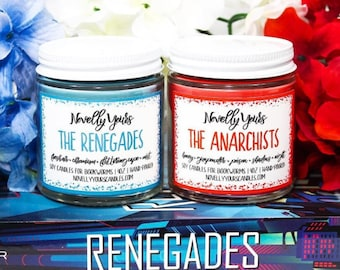 The Renegades & The Anarchists | Two 4oz jars | The Renegades, Marissa Meyer Inspired Soy Candle | Book Candle | Bookish Gift
