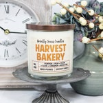 Harvest Bakery | 8oz jar, wood wick | Happy + Home Collection | soy candle | pumpkin, pear, pecan, clove, cinnamon, wood fire