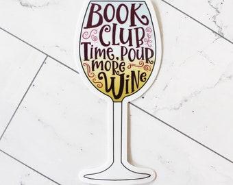 Book Club Wine sticker