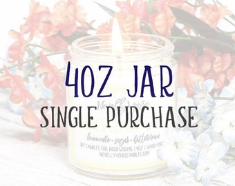 4oz jar | Single Purchase | Book Candle | Bookish Gift | Book Club | Reader, Bookworm, Bookish