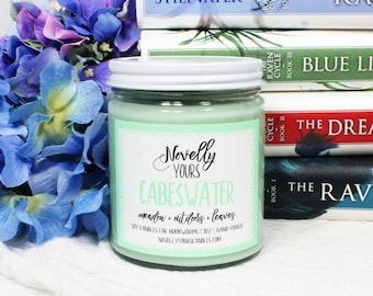 Cabeswater   9oz jar   The Raven Cycle Inspired Bookish Soy Candle   Book Candle   Bookish Gift