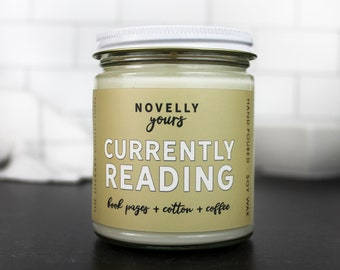 Currently Reading · #currentlyreading, Bookstagram soy candle · Book Candle · Bookish Gift