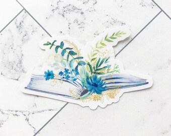 Floral Books sticker