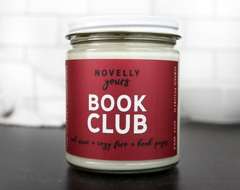 Book Club · bookish soy candle · Book Candle · Book Gift