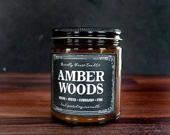 Amber Woods · Enigmatic Aromas · cedar, amber, mahogany, pine