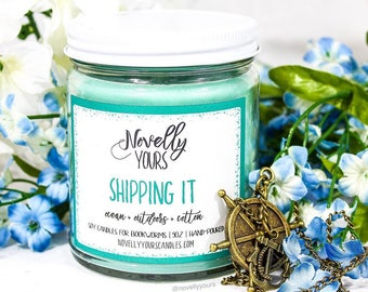 Shipping It | 9oz jar | Relationship, OTP soy candle | Book Candle | Bookish Gift