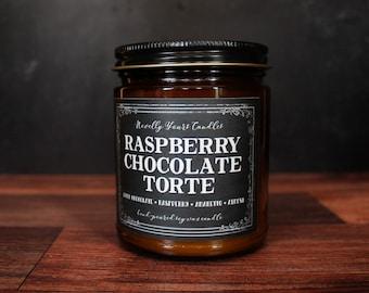 Raspberry Chocolate Torte · Enigmatic Aromas · raspberry, chocolate cake, amaretto, almond