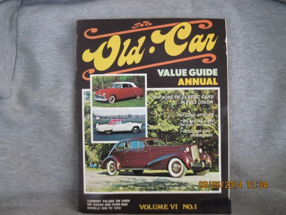 Old Car Values >> Old Car Value Guide Volume Vi No 1