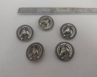 Vintage Dilly Horse Shoe Buttons